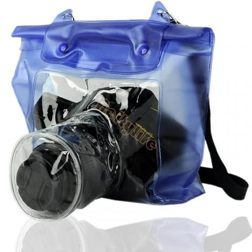 Водонепроницаемый чехол для зеркальной камеры с Zip-Lock (синий)